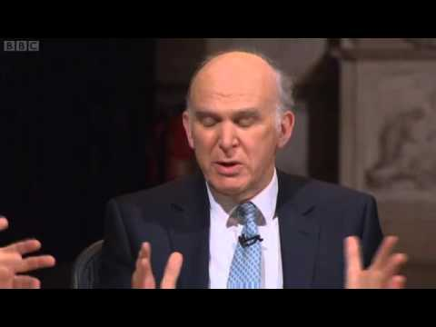 Question Time from St Paul's - Vince Cable On George Osbornes Black Hole  21/02/2013