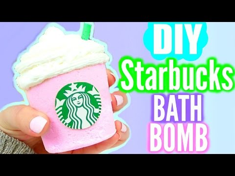 DIY Starbucks BATH BOMB!
