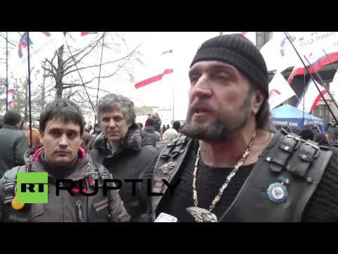 Ukraine: Russian Night Wolves biker gang rolls into Simferopol