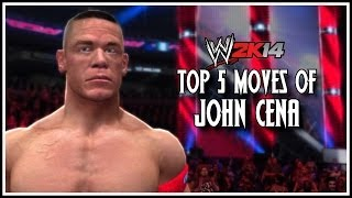 WWE 2K14 Top 5 Moves Of John Cena! (WWE 2K14 Countdown