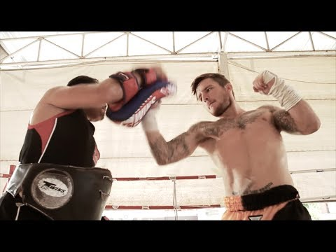 Craig Dickson training for Thai Fight (Kard Chuek) at Sumalee Boxing Gym in Phuket, Thailand