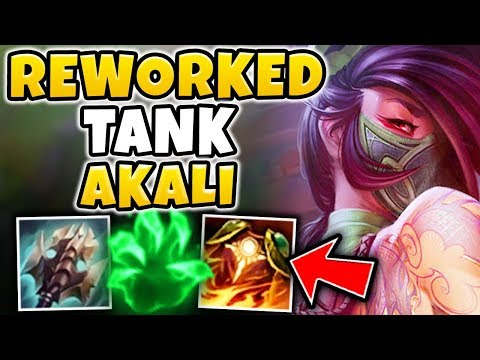 THIS TANK REWORKED AKALI BUILD IS GOD MODE! SEASON 8 REWORKED AKALI GAMEPLAY - League of Legends