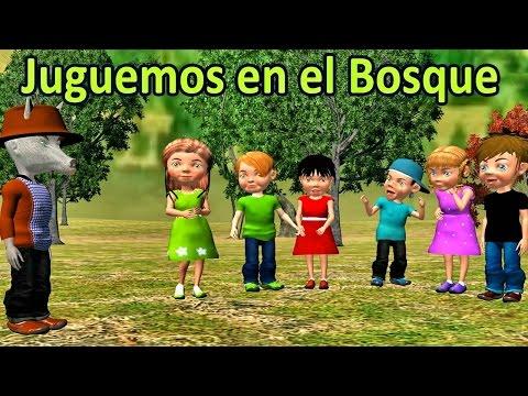 Juguemos en el bosque (canciones y rondas infantiles) - Videos Educativos para Niños #