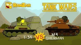 Tanktoon - T43 vs M4 Shermam