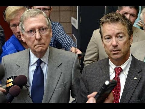 Rand Paul Caught Whispering to Mitch McConnell: We Can Win This Government Shutdown!
