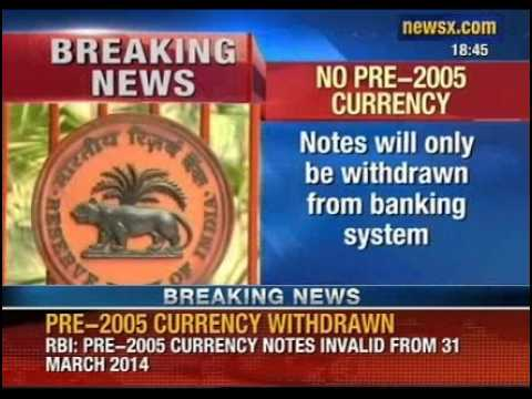NewsX: RBI decides to withdraw all pre-2005 currency notes