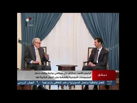 Peace envoy Brahimi in talks with Syria's Assad