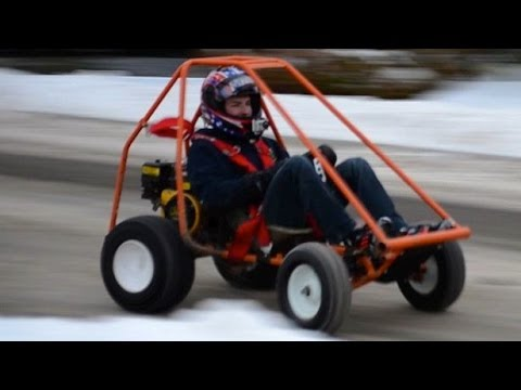Homemade Go-Kart (First Day Of Winter 2013)