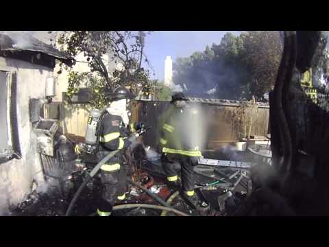 Helmet-cam: House fire with interior attack