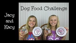 Dog Food Challenge (Jacy and Kacy)