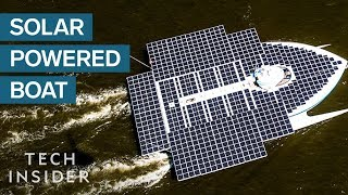 Giant Boat Is Powered Entirely By Solar Energy