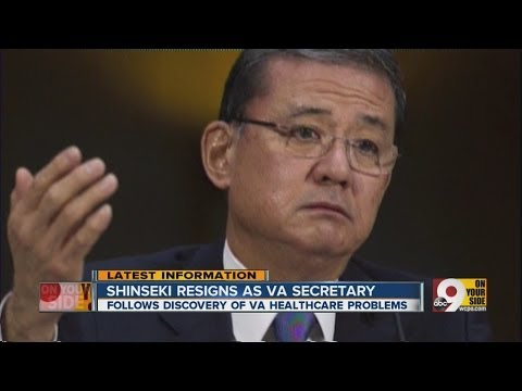 Eric Shinseki resigns as United States Secretary of Veterans Affairs