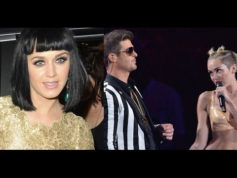¿Miley Cyrus Causo Ruptura de Katy Perry Y Robin Thicke?!