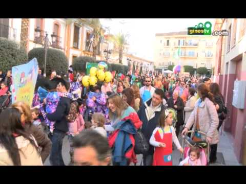 Pasacalles infantiles del Carnaval de Gines 2014