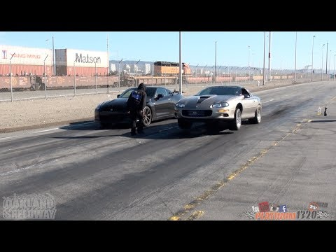LSX NITROUS CAMARO vs NISSAN GT-R & POLICE CHASE