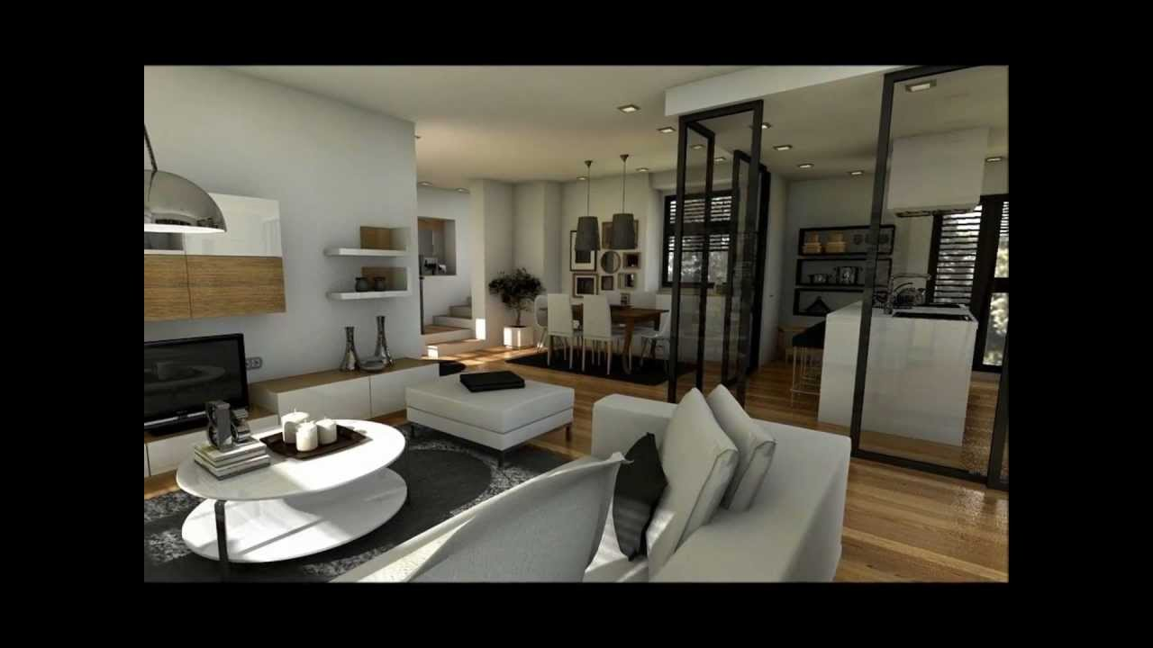 Dise o interior duplex 100m2 youtube for Disenos de apartamentos duplex