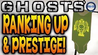 Call of Duty: Ghosts - Multiplayer Ranking Up, Prestiging & DLC Bonuses! (COD Ghost Online)