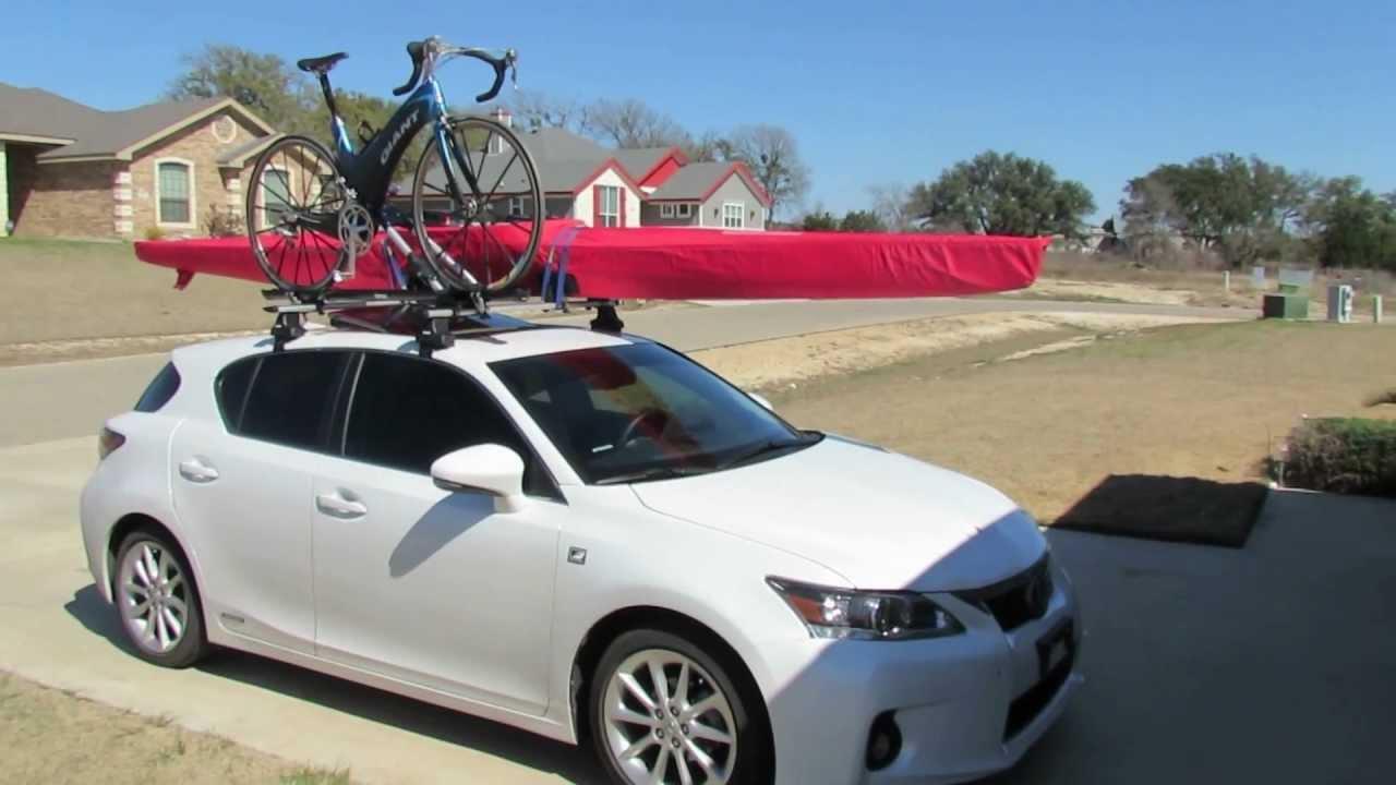 Kayak On Roof >> 2011 Lexus CT200h Adventure model demonstration - YouTube