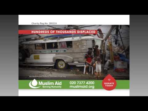 Muslim Aid - EMERGENCY APPEAL, Philippines Typhoon Haiyan. 11 Nov. 2013.