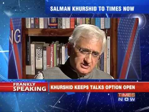 Frankly Speaking with Salman Khurshid - Part 1