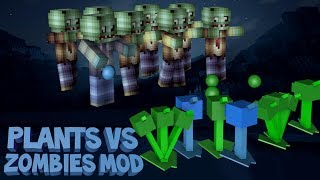Minecraft: Plants VS Zombies 2 Mod MORE PLANTS, NEW