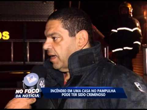 Incêndio em uma casa no Bairro Pampulha pode ter sido criminoso