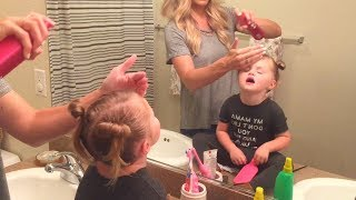 DAY IN THE LIFE VLOG 6.16.17  | How I style Baylee's hair & New makeup | Tara Henderson