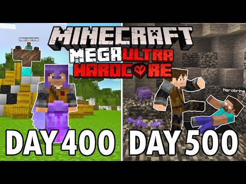 I Survived 500 Days in Mega Ultra Hardcore Minecraft... FINALE! Minecraft Hardcore 100 Days