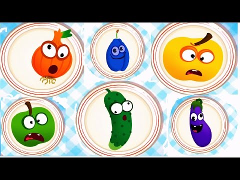 Baby Play & Learn Names Of Fruits Vegetables With Funny Food Games