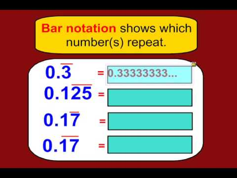how to change non terminating decimal to fraction