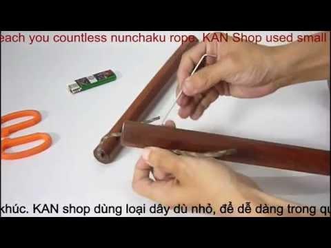Hướng dẫn vô dây côn nhị khúc | Kanshop.vn | How to tie double cord...| 0937008446