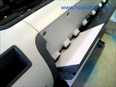 Designjet T1100/T1120  Series - Load paper/media sheet on your printer