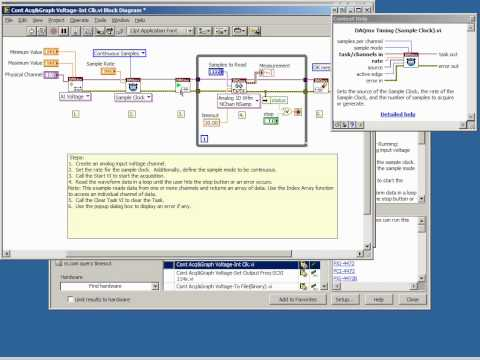 Data Acquisition with NI myDAQ: Creating Tasks in LabVIEW