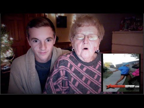 My Grandma Reacts To Sharkeisha Fight