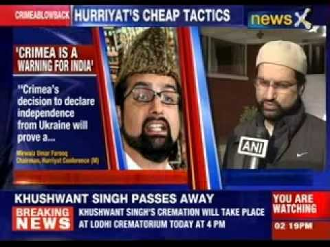 Crimea is a warning for India says Mirwaiz Umar Farooq