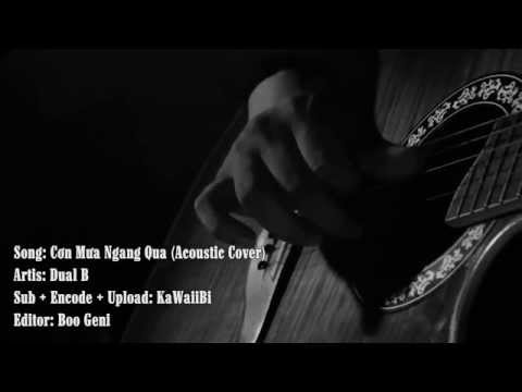 [Karaoke] Cơn Mưa Ngang Qua (Acoustic Cover) - Dual B [ Video Lyric ]