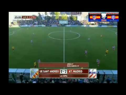 Sant Andreu vs Atlético Madrid 0-4 Copa del Rey 07/12/2013 Summary all goals