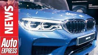 2018 BMW M5 roars into Frankfurt with 592bhp. Auto Express.