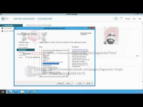 Microsoft Windows Server 8 Installing Active Directory Domain Services in Hindi By JagvinderThind