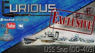 USS Sims. Обзор премиумного эсминца США.