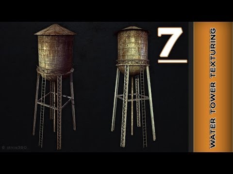 Autodesk Maya 2014 Tutorial  - Water Tower Texturing Part 7 - Rendering