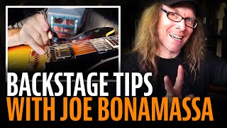 Watch the Trade Secrets Video, Joe Bonamassa sound check: backstage tips