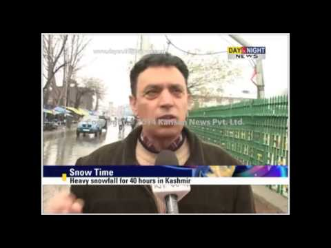 Snowfall in Himachal and Kashmir