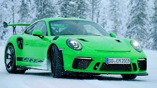 Porsche 911 GT3 RS (2018) Test on Snow. YouCar Car Reviews.