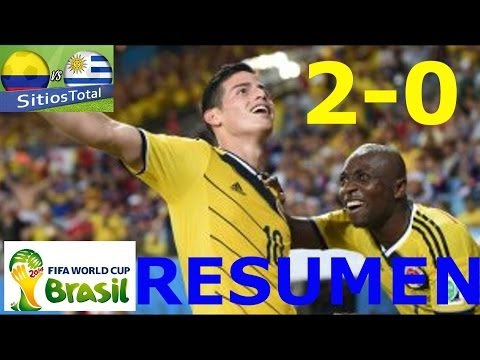COLOMBIA VS URUGUAY 2-0 RESUMEN HD Goles de James Rodriguez Brasil 2014 28/06/2014