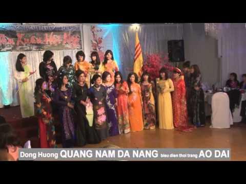 Đồng Hương Quảng Nam Đà Nẵng biểu diễn thời trang ÁO DÀI