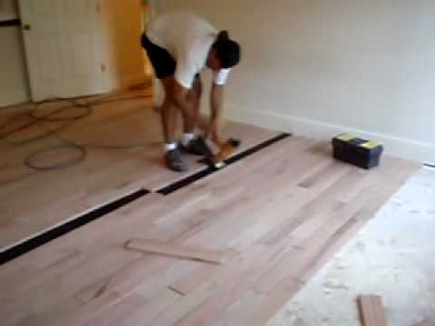 Hardwood floor installation youtube Wood floor installer