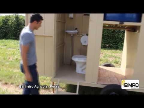 Banheiro Agrícola - Sanitário Móvel - Banheiro Rural - Fossa