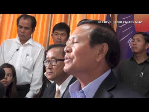 Sam Rainsy & Kem Sokha make Press Conference