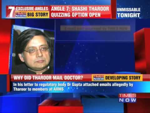 Sunanda Pushkar death mystery :Shashi Tharoor-doctors email trail